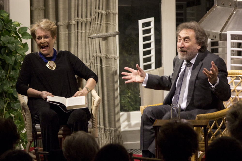 Howard Johnson and Janet Suzman at JR Salon, Jan 2015 © Charlotte Mayhew