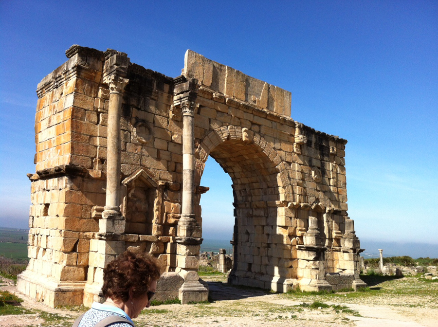 JR Tour - Morocco - Volubilis arch JL