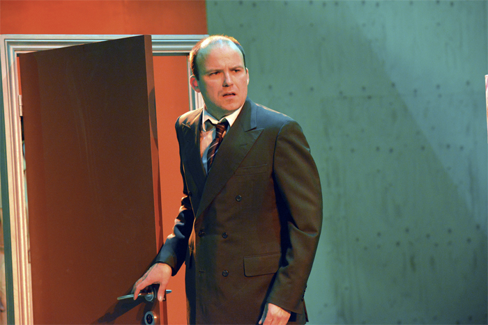 Rory Kinnear as Josef K in The Trial at Young Vic, London © Keith Pattison