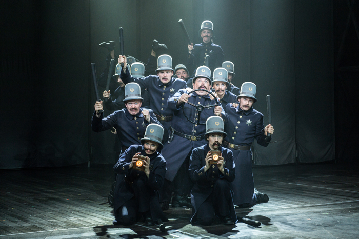 Jack Edwards (Fatty) and the Keystone Cops in Chichester Festival Theatre production of Mack and Mabel © Manuel Harlan