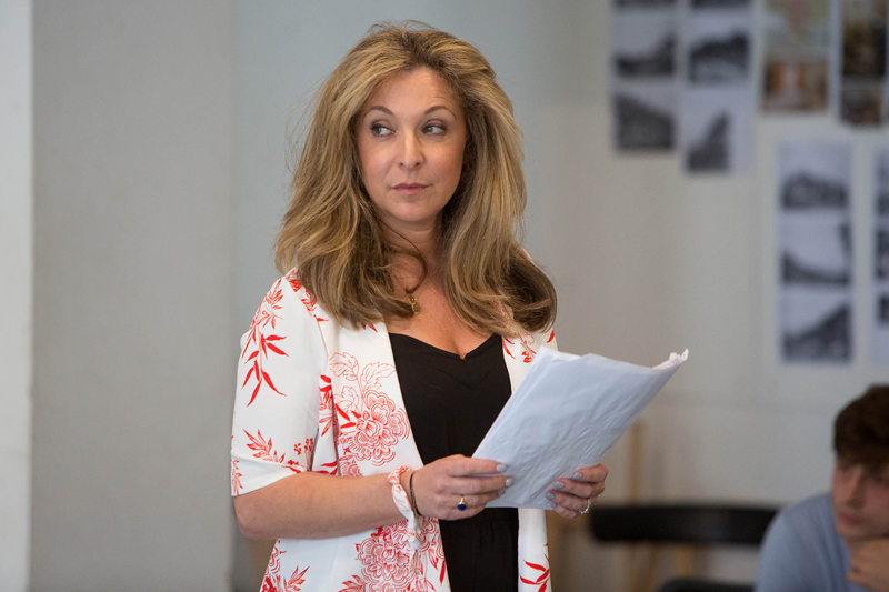02RET Rehearsal The Might Walzer Tracy-Ann Oberman (Sadie Walzer) photo Jonathan Keenan