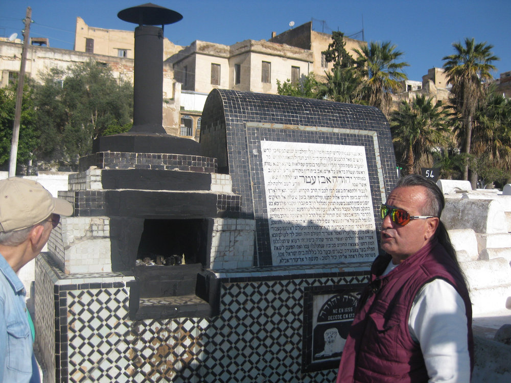 Rafi Elmaleh at Fez Cemetery Rabbi tomb