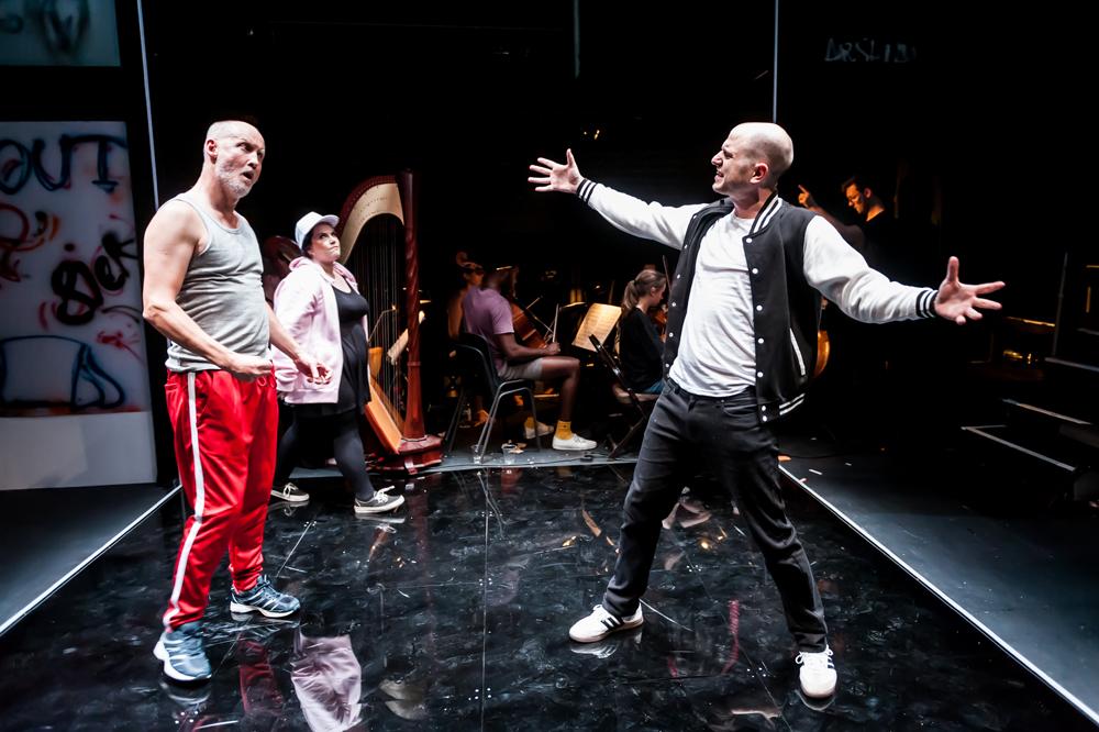 26 Richard Morrison, Laura Woods and Edmund Danon in GREEK at Arcola Theatre - Photo_ Lidia Crisafulli.jpg