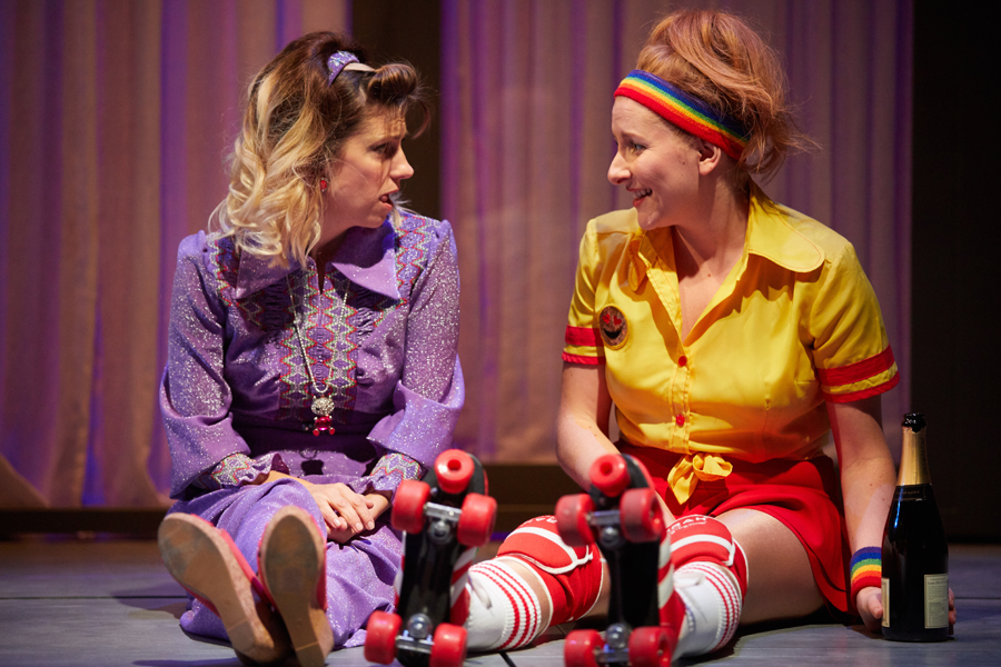 Claire Goose (Juliet), Dorothea Myer-Bennett (Simone) - Holy Sh!t at the Kiln Theatre. Photo by Mark Douet.jpg