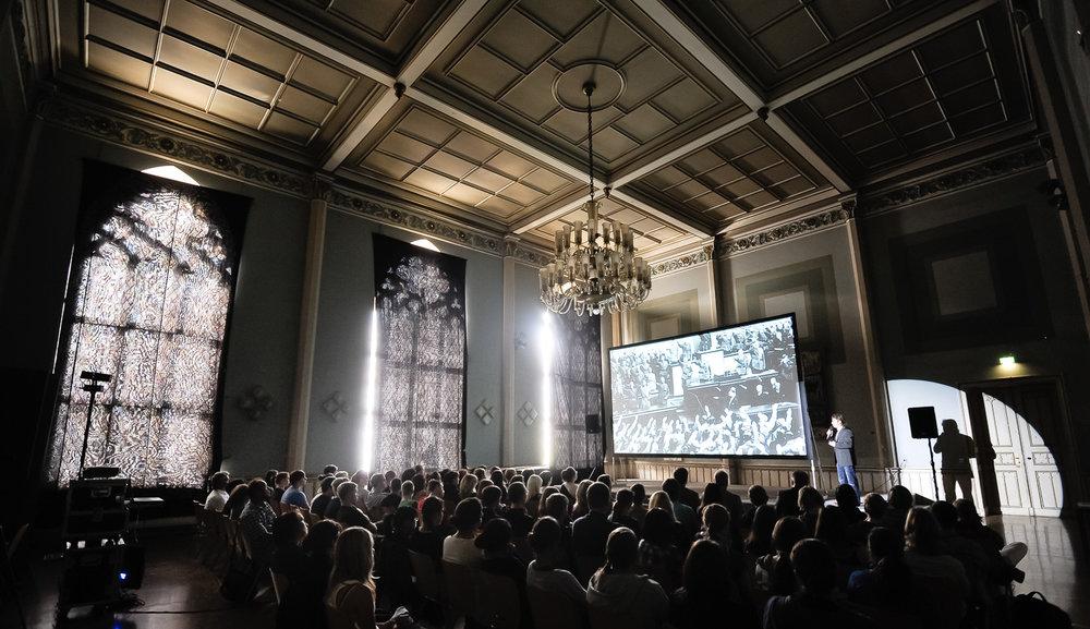 Multimedia Leve Presentation Annen Augustum Gymnasium Goerlitz.Foto: Pawel Sosnowski