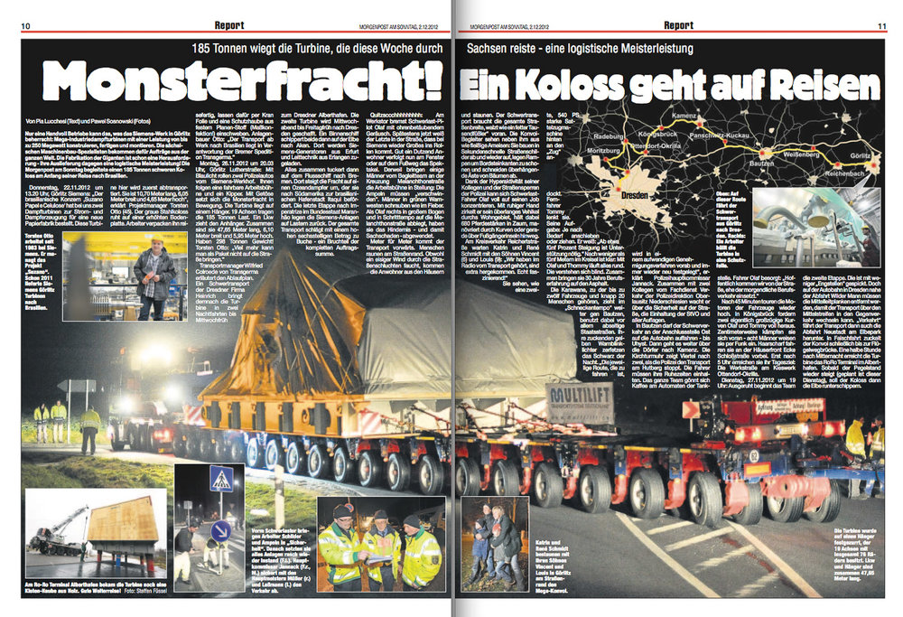 Morgenpost am Sonntag, 2.12.2012.
