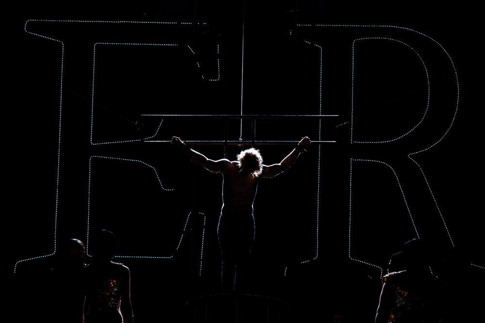 Magdeburg, 14.06.2018. Jesus Christ Superstar, Rock-Musical in zwei Akten. Gesangstexte von Tim Rice. Musik von Andrew Lloyd Webber. Deutsch von Anja Hauptmann. DomplatzOpenAir. Premiere, 15. 6. 2018.//Foto: Pawel Sosnowski www.pawelsosnowski.com