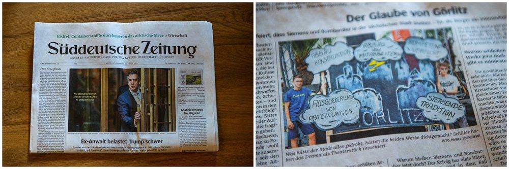 Mein Foto in der Süddeutschen Zeitung vom 23.08.2018.