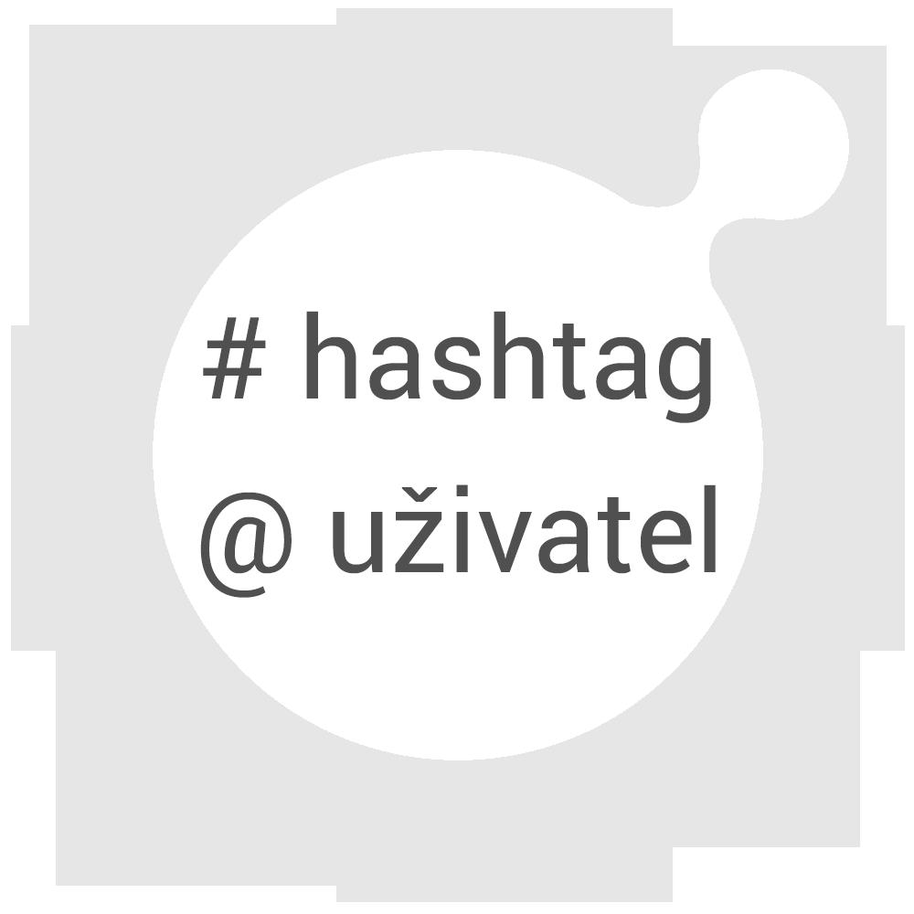 Vyberte Váš hashtag nebo uživatele, kteréchcete sledovat.