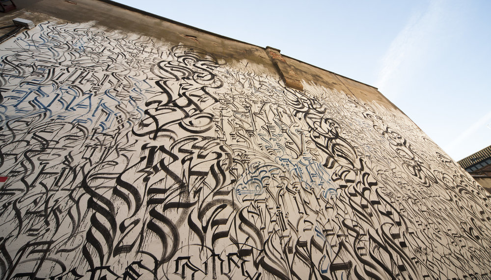 Wall painted in York by Defer and Big Sleeps