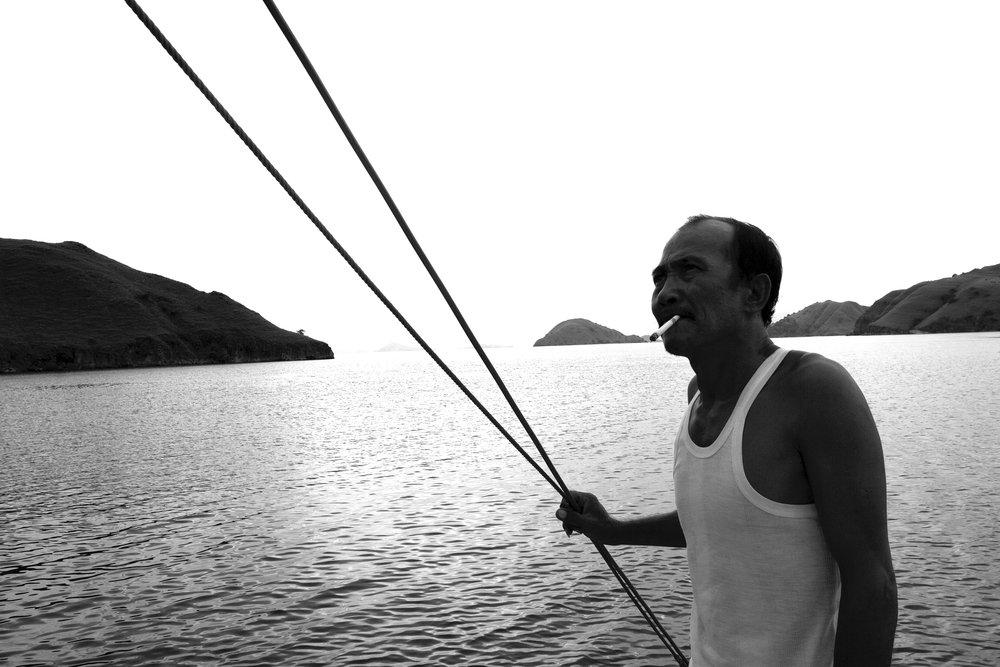 Fisherman on the boat BW.jpg
