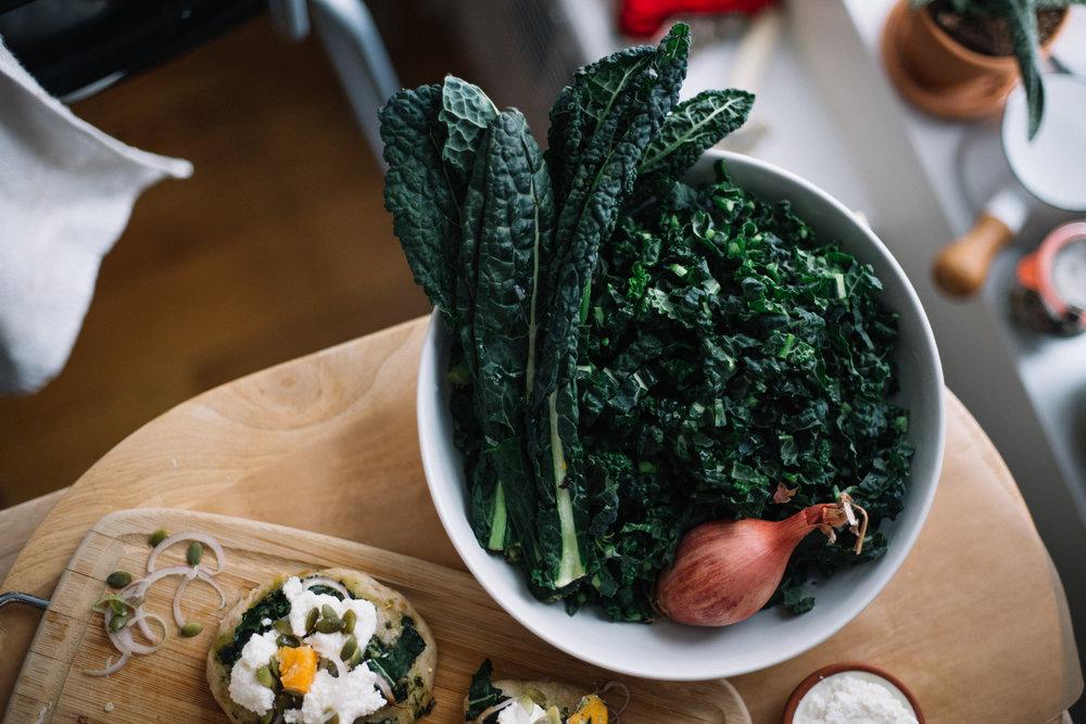 Kale + Butternut Squash Pizza