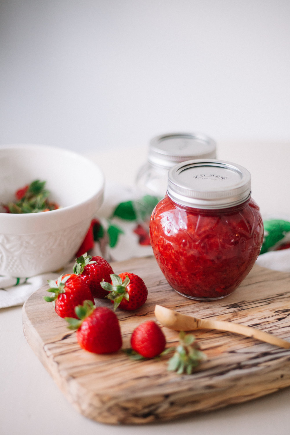 strawberry jam sweetened with honey | marina gunn food