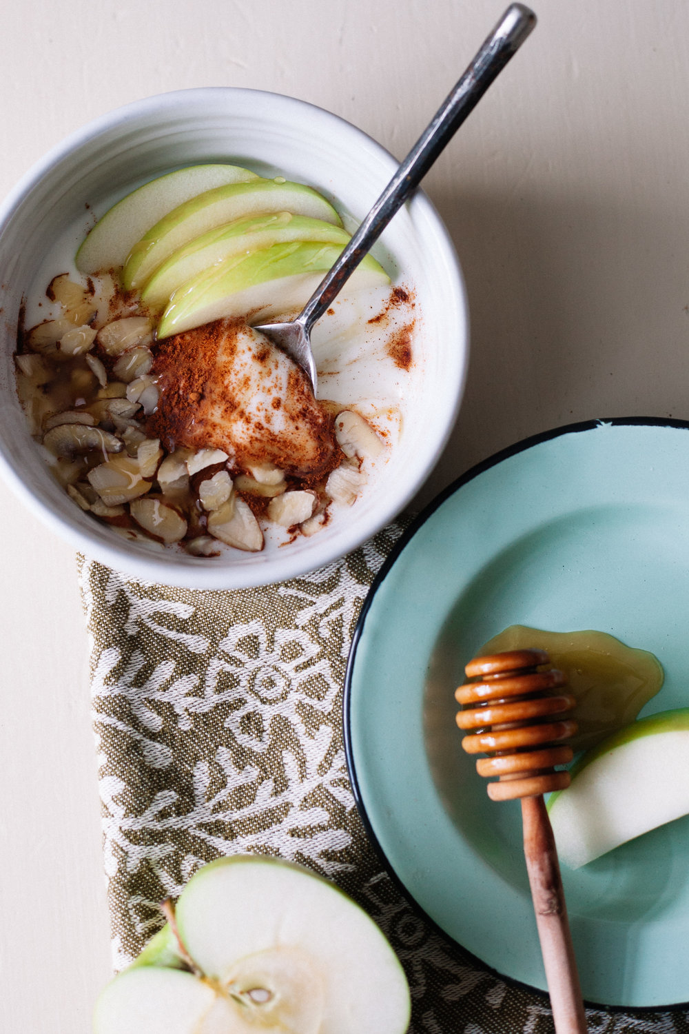 Cinnamon Apple Yogurt with Sliced Almonds | Marina Gunn