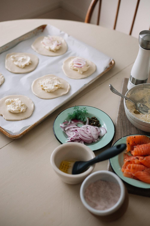 bagel and lox mini galettes | marina gunn