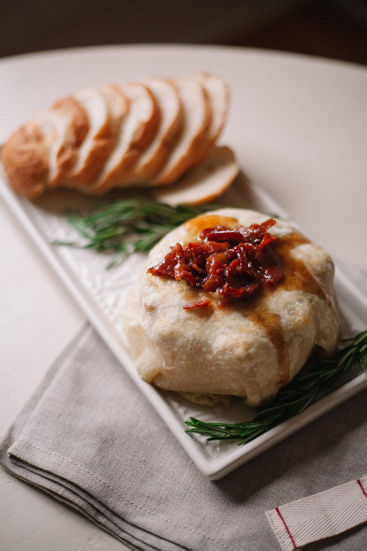 Maple Bacon Baked Brie | Marina Gunn