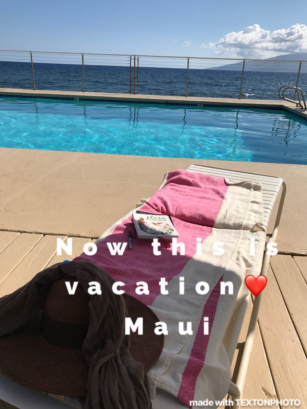 I was fortunate enough to go to Maui for a week! a week ago.  I have been looking forward to this since March and it was just the vacation i needed.  I LOVE vacations where i get to lay around and have no agenda.  When i found this 1933  pool on our little gated place i was in heaven.   I played here and dipped in the pool for hours, reading, taking pics, doing nothing.   Very different from my normal life back in Oakland.  In 2 weeks my working life will change dramatically.  I luckily got to lay around resting before the change happens.  The change is a great one.  I have been a teacher at Aveda for 4 yrs and I love my job, BUT, Aloeswood is calling. and i  have been WAITING and WORKING 2 jobs for 2 + years full time for THIS very moment and i am going to appreciate every second that goes into creating my little dream.  So Maui gave me the time to drift away, do nothing and dream as much as I can right now.... its hard to think and be creative when your busy with work so this was a much needed breather.  My main objective to to be healthy, because , without that i cannot live a vibrant life... i cannot work etc..  What that means is everyday i will spend my mornings sweating, breathing, stretching and journaling, AND cooking my own food and being grateful!   EVERY DAY!!!!!!! can you believe it!  I will soon bring all of this to the Annex and teach morning yoga/meditation classes that will be gentle but have purpose.  Im going to put my Christy twist on them and have a mini facial component and some sort of  beautiful healthy drink offering as well.  I CANT WAIT.  2 more weeks and then i take a mini reboot weekend with a girlfriend THEN August is MINE to create.   Aloeswood is amazing and growing.  I never knew it would be after all these years that my dream and passion are being expressed so fully.    Hold onto your dreams everyone, never let go.  Peace In and out  Christy