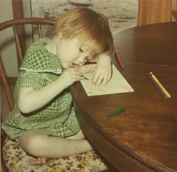 Me at 2 years old working on my first design project ;)
