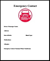 In Case of Emergency (ICE) form -  FREE Download