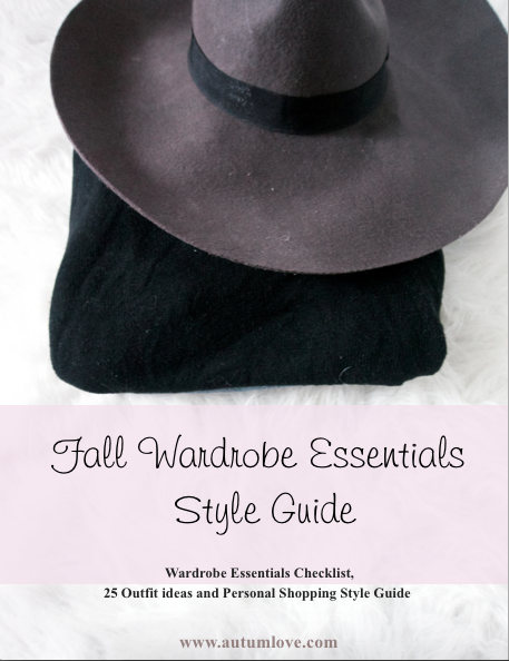 Fall Wardrobe Essentials Style Guide