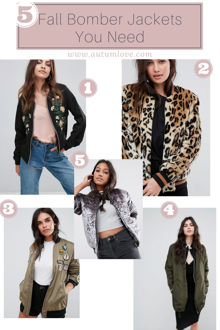 5 Bomber Jackets you need