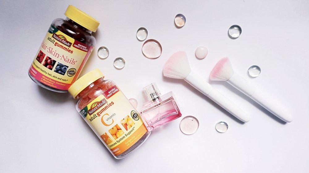 Beauty Makeup and Vitamins