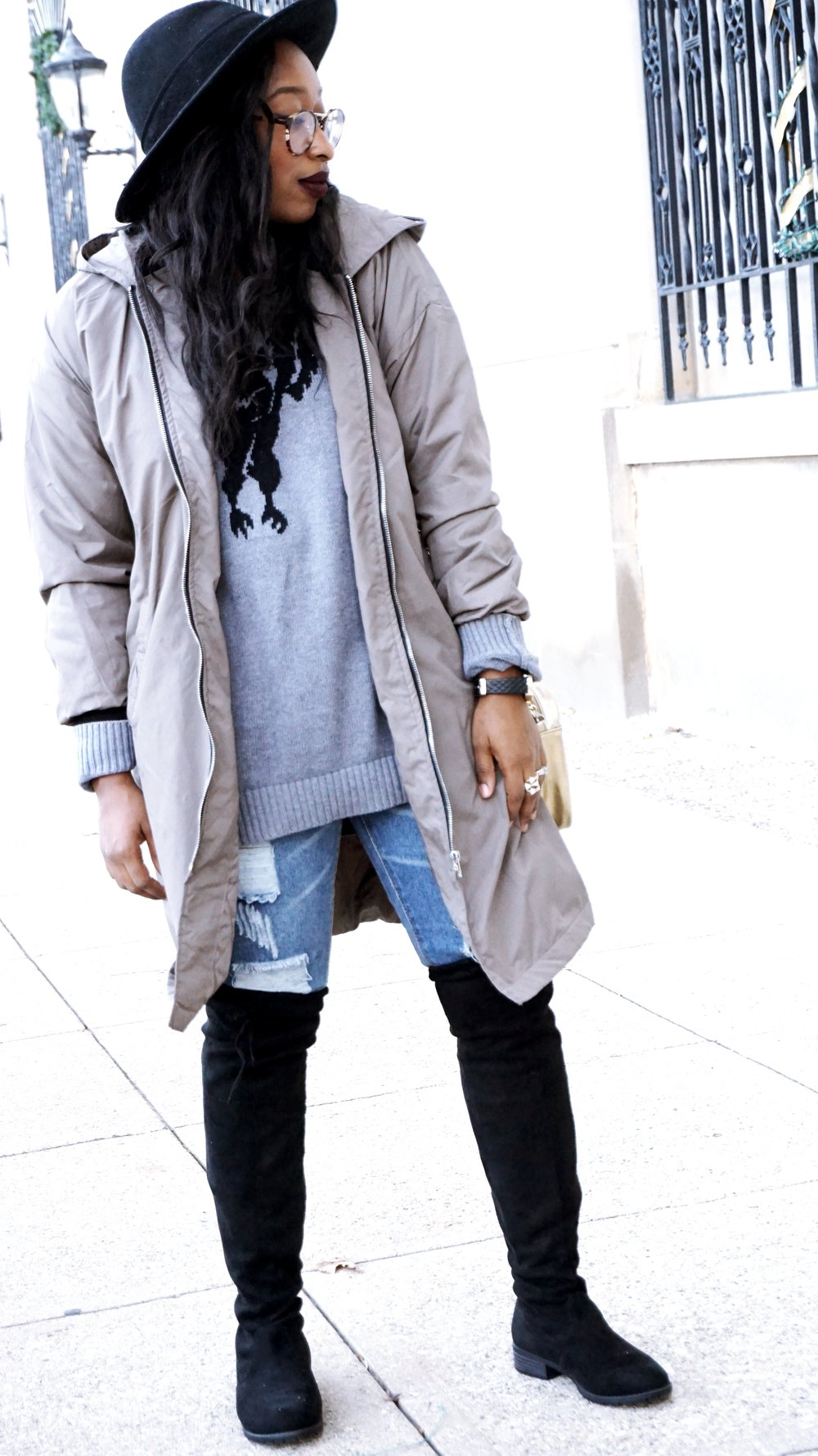 How To Style a Oversized Bomber Jacket