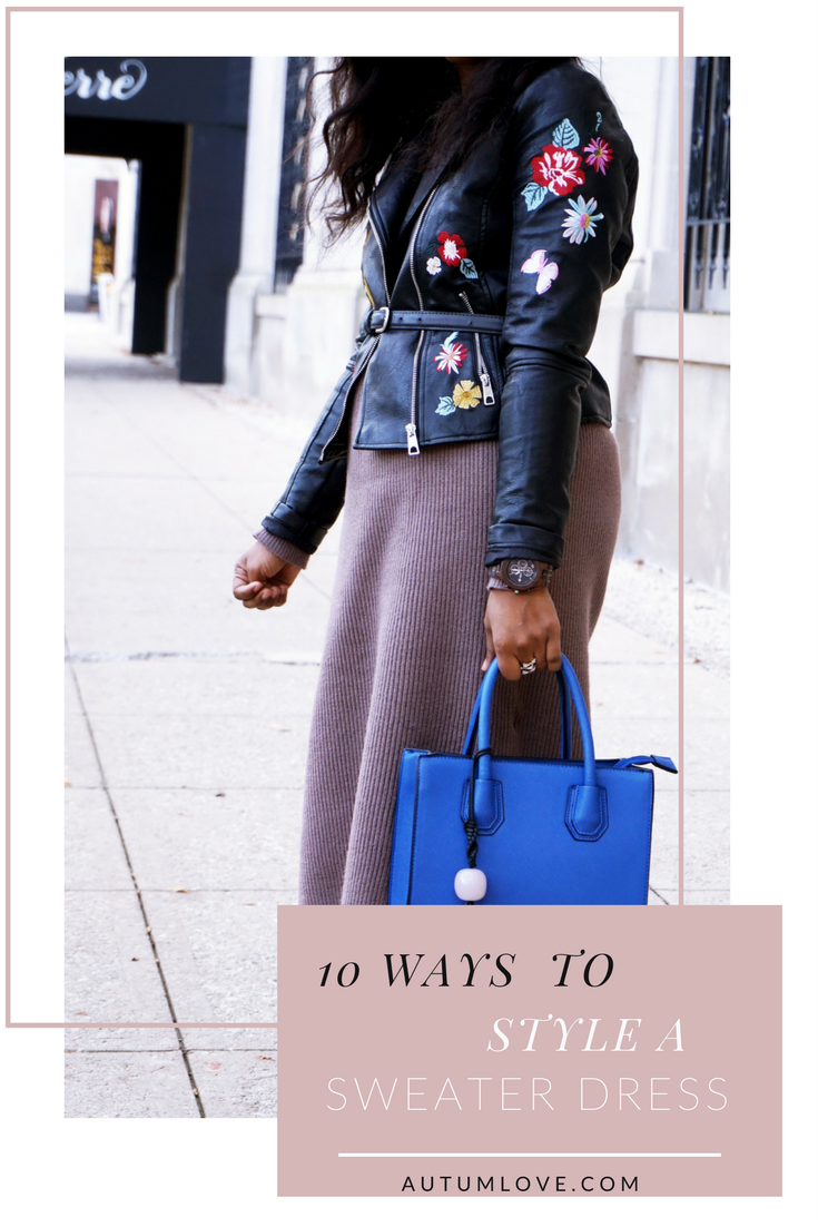 10 ways to style a sweater dress