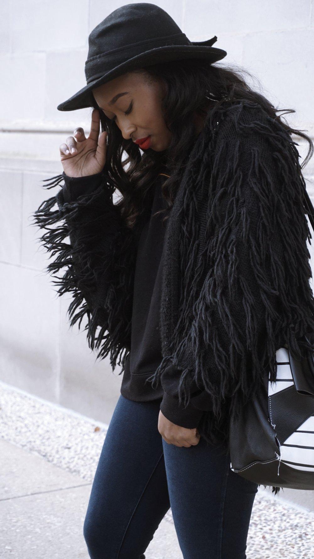 Fringe Fur Jacket