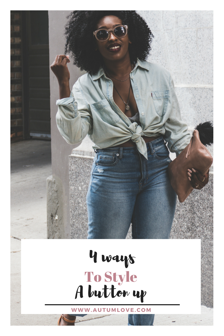 4 creative ways to style a basic button up