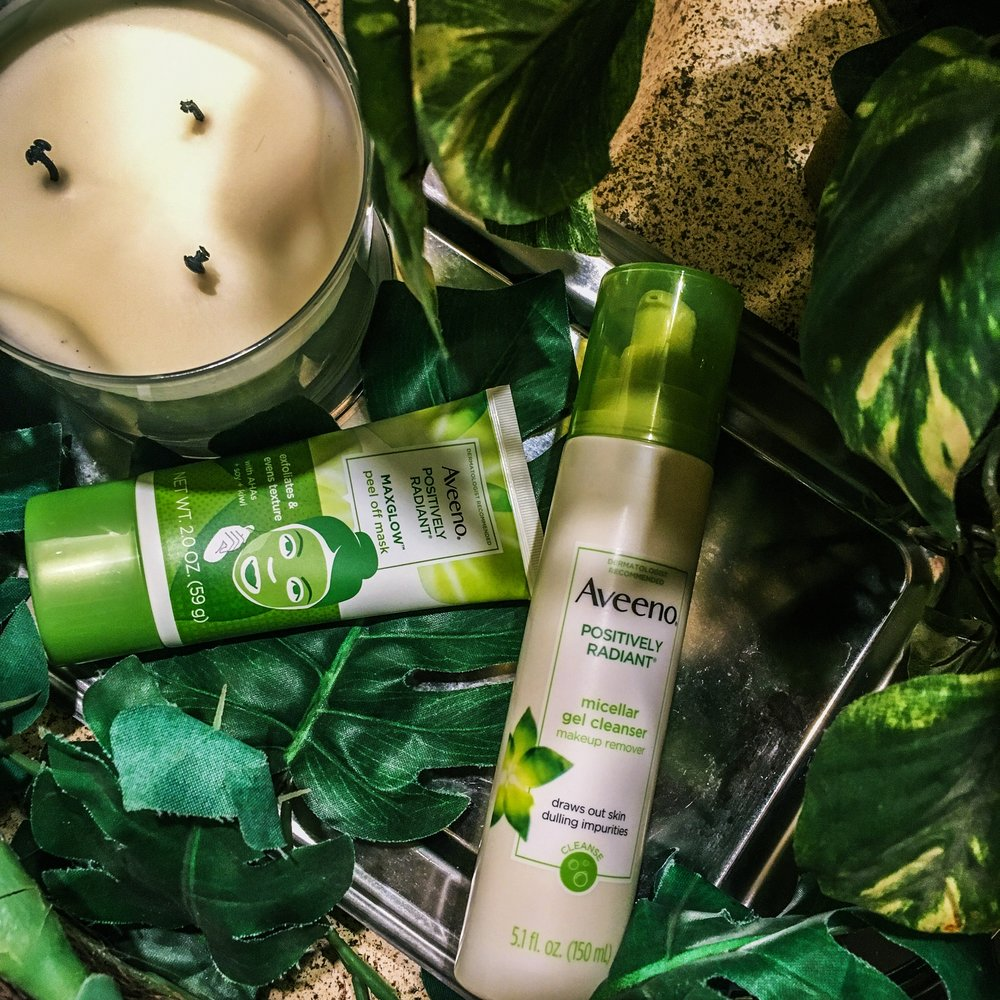 Max Glow, Aveeno Positively Radiant Collection, Self care tips, prioritizing self care, how to get glowy skin,