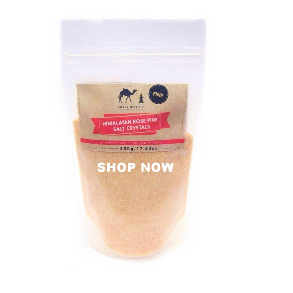 Himalayan Rose Pink Salt Pouch 500g (Fine)