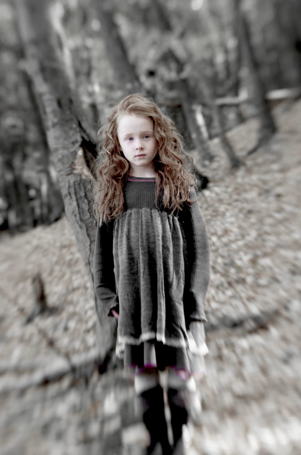 Maura Wayman Photography, Photography, Corporate Photography, stock, stock images, Massachusetts, Boston, Metro West, Wellesley, child, girl, woods, scary, red hair, selective focus, dreamy, fantastic,