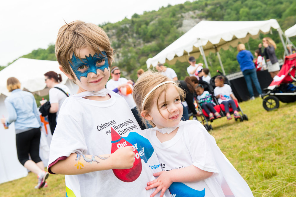 Maura Wayman Photography, Photography, Corporate Photography, Massachusetts, Boston, Metro West, events, Corporate events, Photographer, Functions, Parties, Fundraisers, Biogen, hemophilia walk, hemophilia, blue hills, Banner, walkers, team, face painting, little girl, little boy, masks, capes