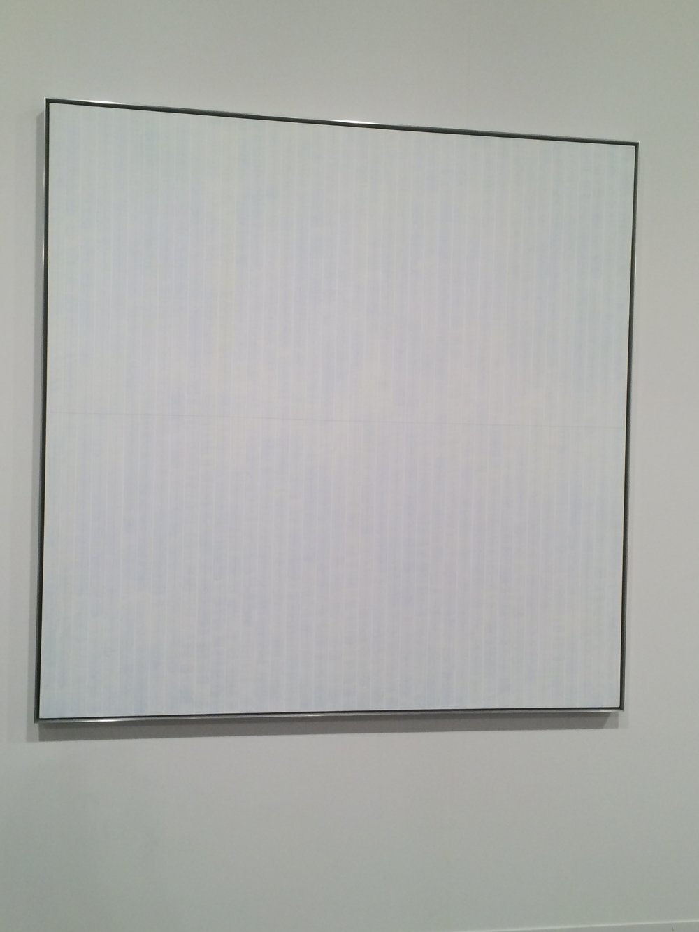 Agnes Martin at Basel. Best title!