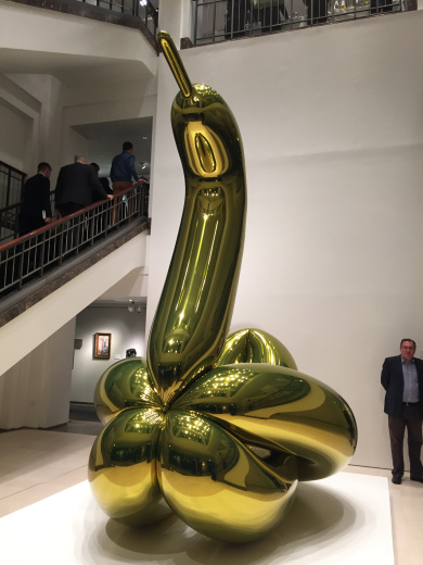 Jeff Koons, Balloon Swan (yellow)
