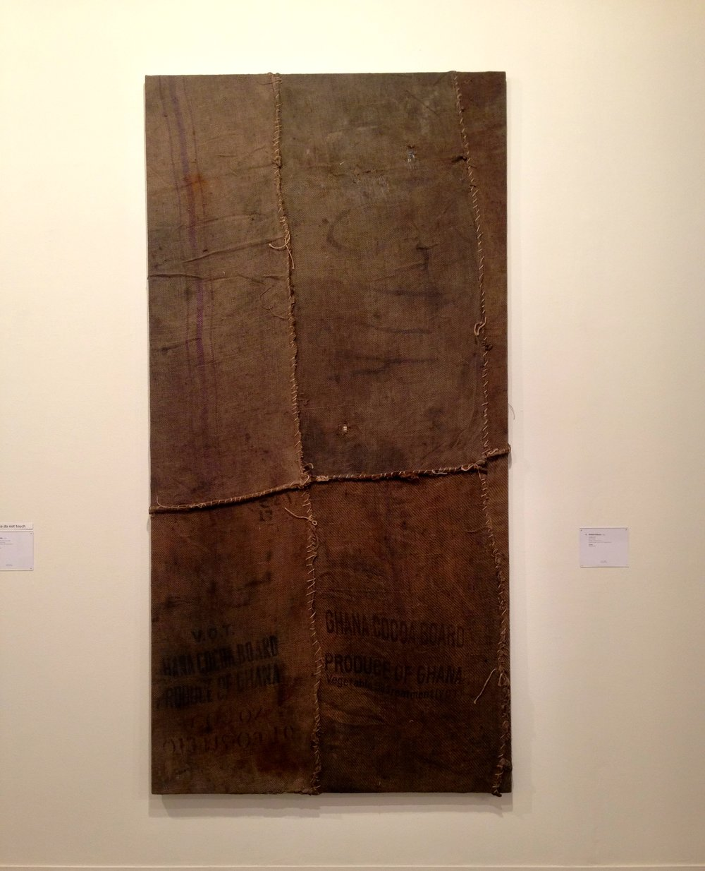 Phillips- New Now, Ibrahim Mahama, Untitled, 2014, Jute Coal Sacks