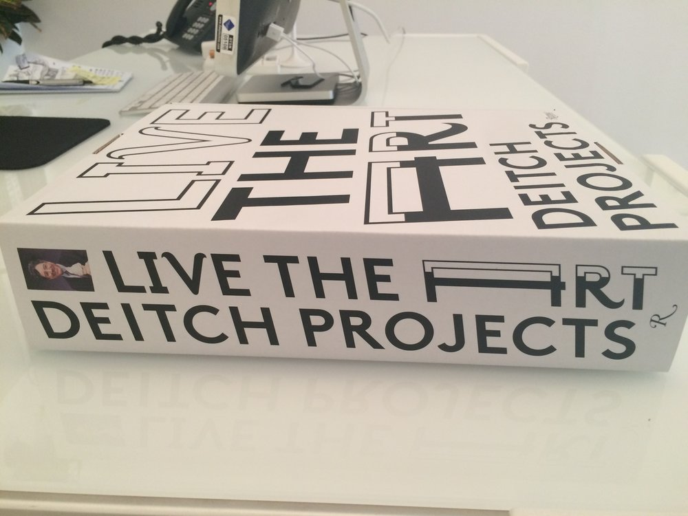 View of Jeffrey Deitch book, Live the Art, 2014