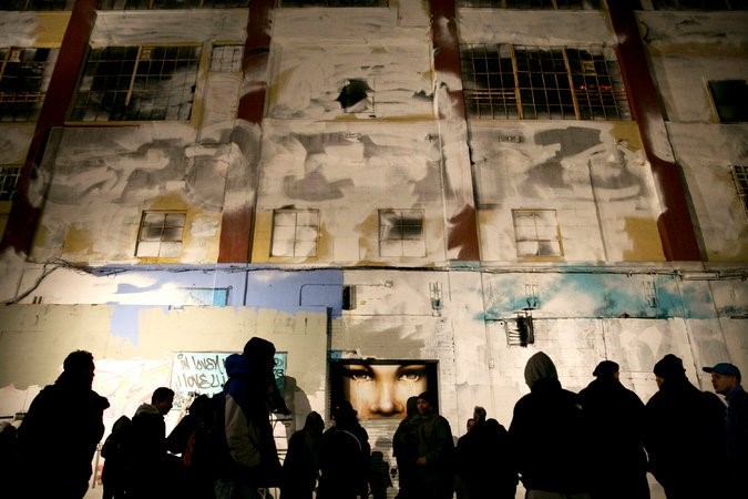 Jerry Wolkoff, the developer who owns the complex that was known as 5Pointz in Long Island City, Queens, hired a team to paint over the works of 21 graffiti artists nearly a year before the building was razed. (Credit Todd Heisler/The New York Times)