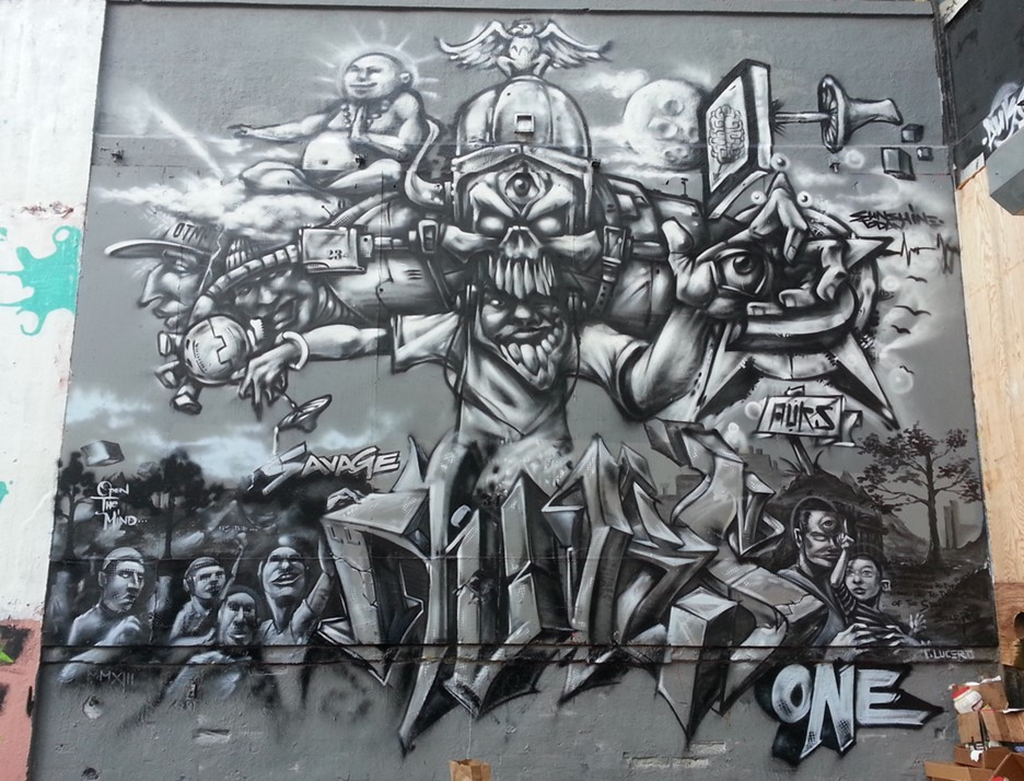Thomas Lucero, AKA Auksone,  Black Creature , 2011. (5Pointz)