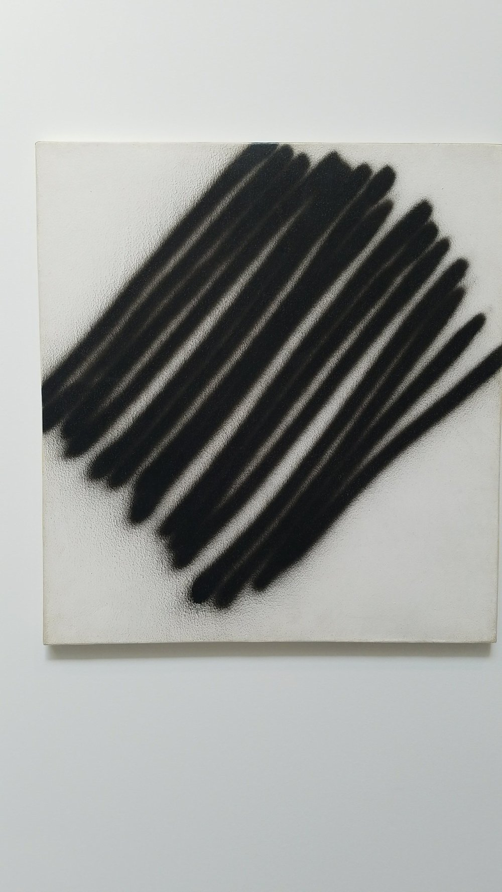 Martin Barré,  67-Z-4-53x49 , 1967, enamel & acrylic on canvas, 20 7/8 x 19 3/8 in., Courtesy Matthew Marks Gallery