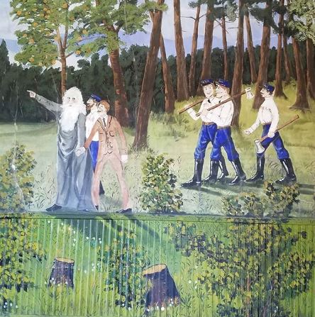 Ernest Hüpeden's Painted Forest