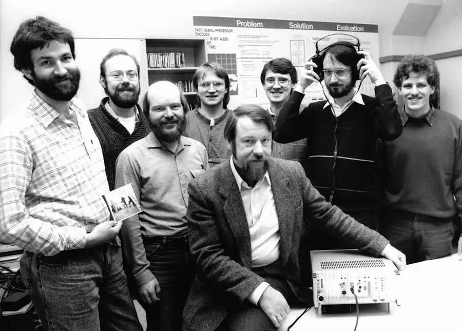 Оригінальна команда звукозапису в Fraunhofer IS (зображення взяте з MP3-history.com)