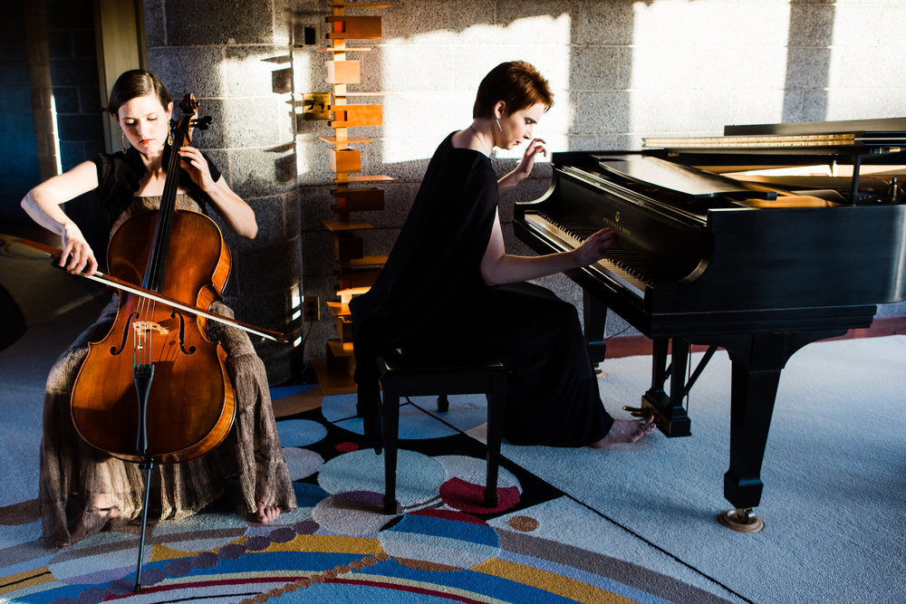 With cellist  Ruth Wenger .© 2018  Bethany Brown Photography