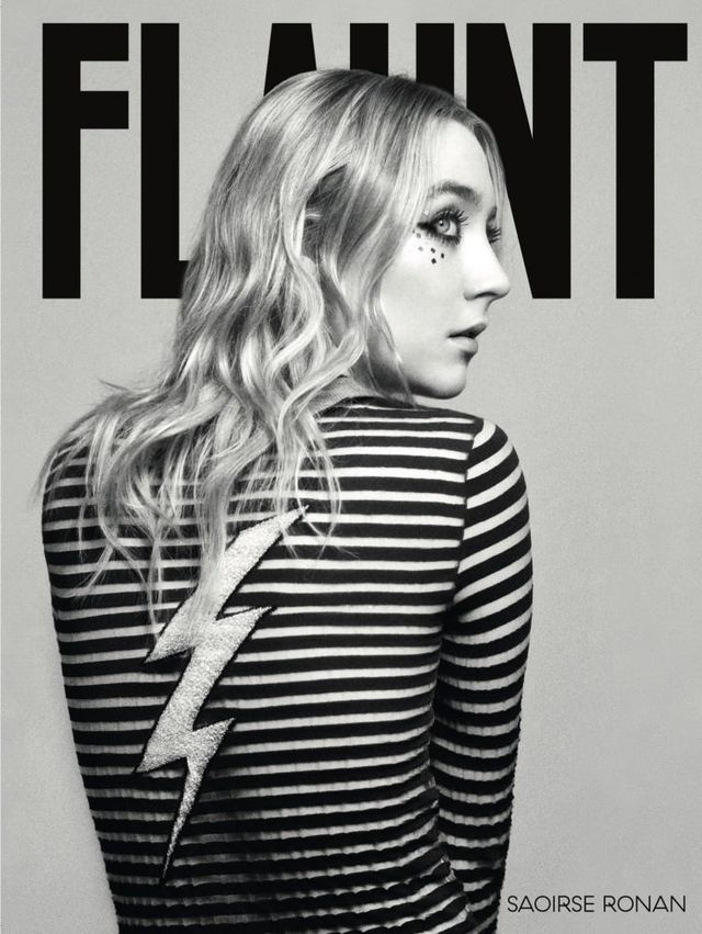 "Saoirse Ronan for FLAUNT - Like the majority of the Irish population, Ronan was raised in the Roman Catholic tradition, with all its frankincense-laced transubstantiation, and until quite recently, social conservatism. Divorce was illegal in Ireland until 1996, homosexuality was outlawed until 1993, and abortion remains illegal unless the mother's life is at risk. She went to church every Sunday with her parents, had a First Communion and Confirmation at age 16. ""As a Catholic you grow up believing that there's an answer for everything, and a reason for everything.""Early on though, she started to question things.When the time came for her to make her first confession in front of a priest, Ronan had doubts. ""I was six years old, and I had nothing to confess. I remember all of us kids were like 'what are we going to say? Do we make something up like, we cheated on our homework or in an exam?' Even as a kid, I didn't feel like it was right for us to make up something just for the sake of it. So I said to my mum and dad, 'I'm not doing it.' I said no. So I've never confessed."""