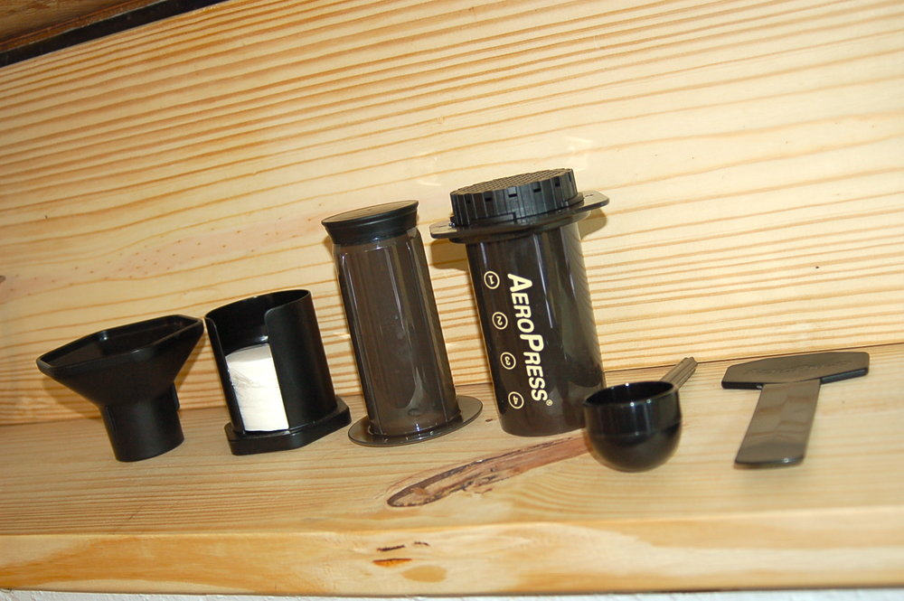 UEL ZING coffee lab Aeropress display