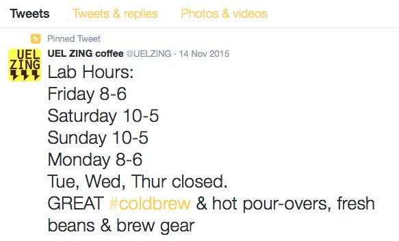 Uel Zing Twitter Hours