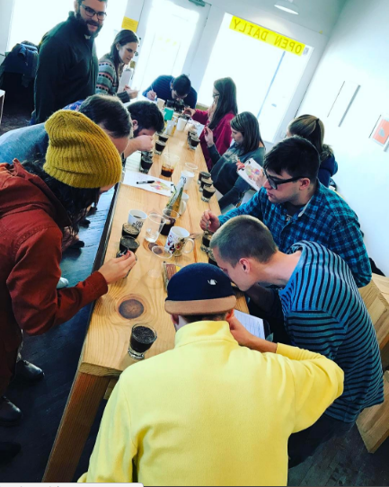 Coffee Cupping / Tasting Class - Drink and learn about awesome coffee on a Sunday afternoon! The first Sunday of every month at 2pm, we taste three different coffees side by side using the industry standard method known as
