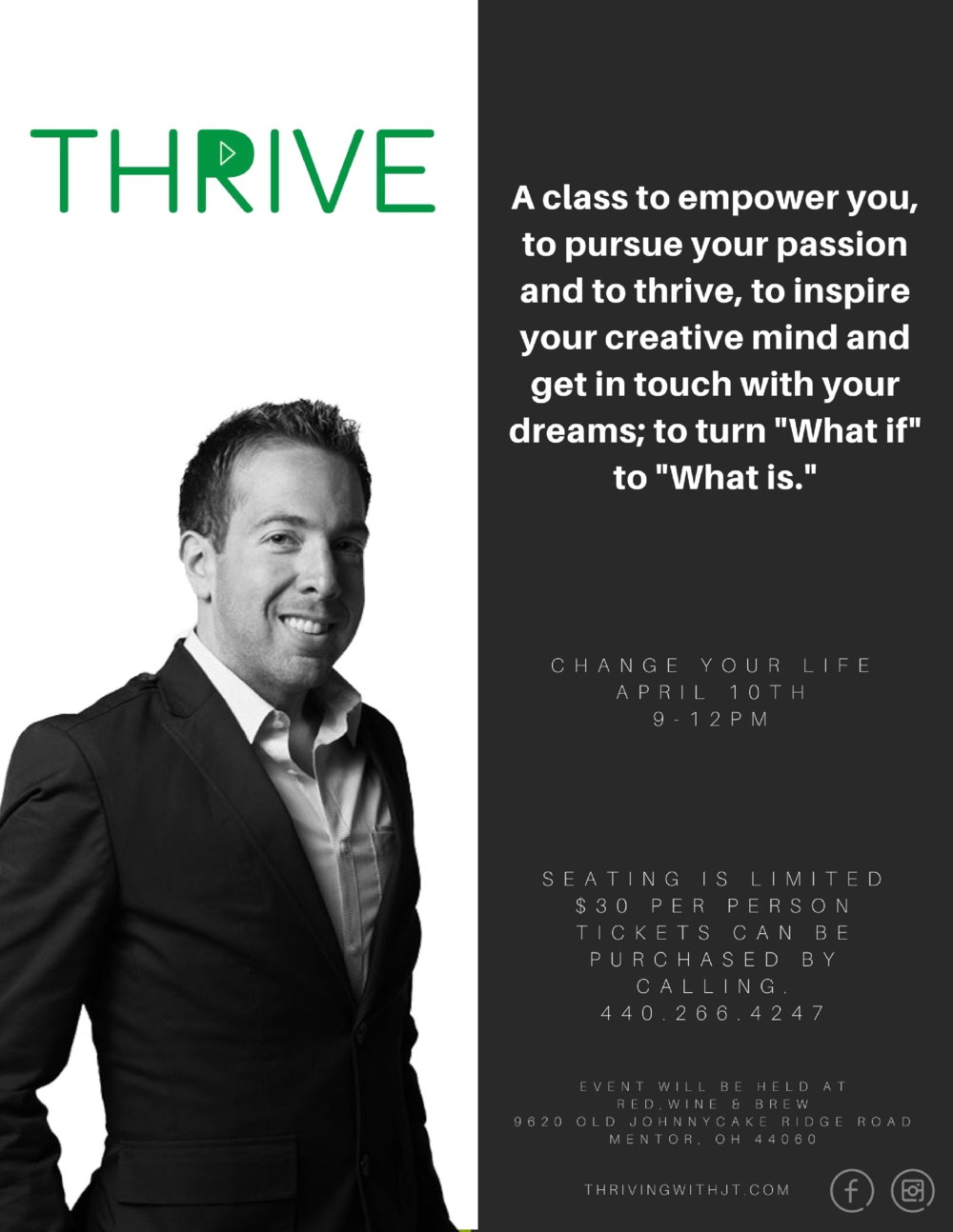 THRIVE motivational class cleveland ohio