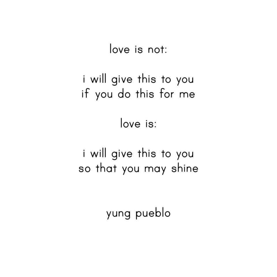 love is not yung pueblo